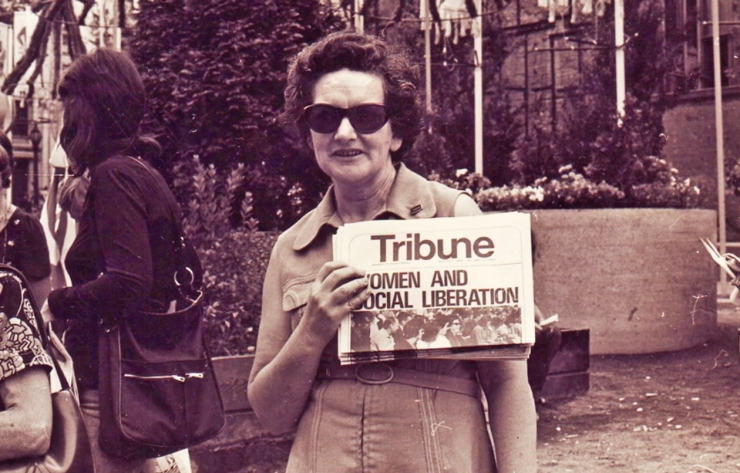 Olga selling Tribune