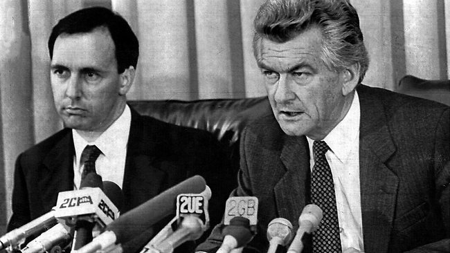 Keating and Hawke, 1983. Photographer unknown.
