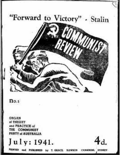 The first issue of 'Communist Review' after the ban was lifted by the Curtin Government on the magazine.