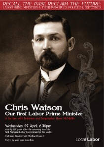 Local Labor Apr 27 Watson Lecture Ross McMullin