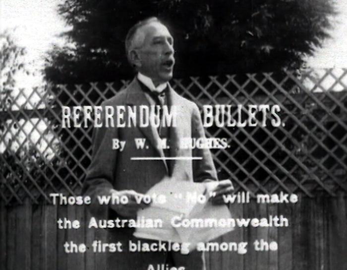 Conscription Referendum Campaign: Referendum Bullets http://aso.gov.au/titles/newsreels/alp-1916-conscription/clip1/