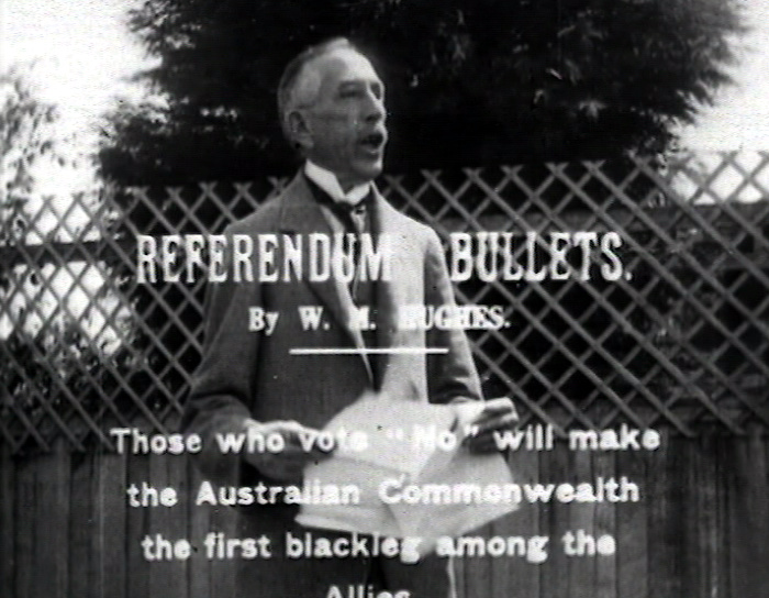 Conscription Referendum Campaign: Referendum Bullets http://aso.gov.au/titles/newsreels/alp-1916-conscription/clip1/